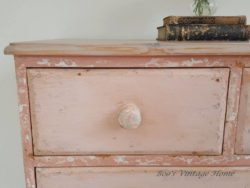 Pink chest of drawers by Patina FINISHES student