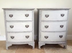 Beautiful patina nightstands created by student